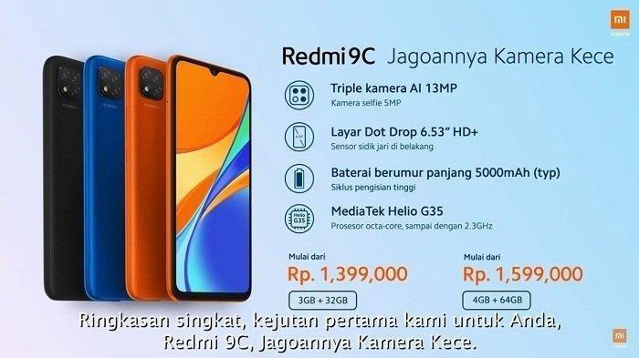 Resmi Rilis Hari Ini! Berikut Spesifikasi Lengkap dan Harga Xiaomi Redmi 9C