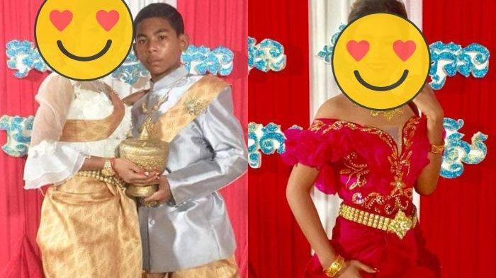 Viral Remaja 14 Tahun Nikahi Gadis 21 Tahun, Kecantikan  Pengantin Wanita Bikin Iri Para Jomblo!