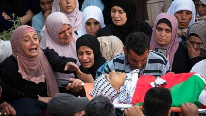 Pemuda Palestina Demonstrasi, Bentokan Pecah, Tentara Israel Tembak Mati Remaja 15 Tahun