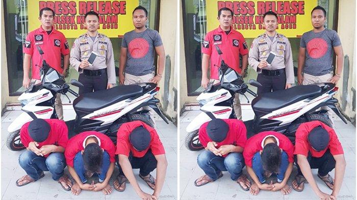 Polsek Kuta Alam Ringkus Tiga Remaja Pencuri Hp yang Ditinggal di Bagasi Sepeda Motor