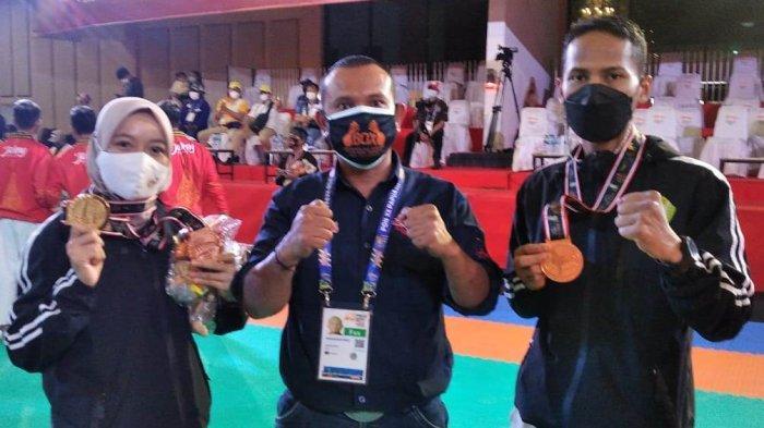 Dua Petarung Aceh Tamiang Sumbang Tiga Medali untuk Aceh di PON Papua 2021