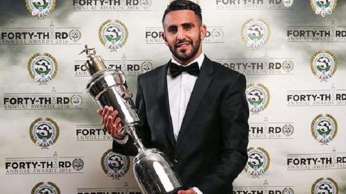 Mahrez Persembahkan Gelar Pemain Terbaik untuk Rekannya di Leicester City