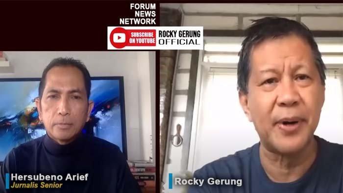 Rocky Gerung juga turut memberikan komentarnya, melalui Kanal YouTube Rocky Gerung Official, Senin (29/3/2021).