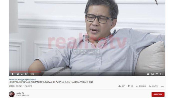 Beberkan Pendapatnya Soal Menko Polhukam, Rocky Gerung Singgung Kehancuran Kabinet