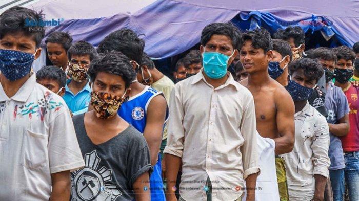 FOTO - 296 Warga Etnis Rohingya Jalani Rapid Tes di Penampungan Sementara BLK Lhokseumawe - rohingya-di-lhokseumawe-rapid-tes-1.jpg