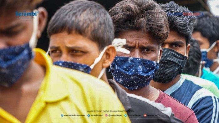 FOTO - 296 Warga Etnis Rohingya Jalani Rapid Tes di Penampungan Sementara BLK Lhokseumawe - rohingya-di-lhokseumawe-rapid-tes-3.jpg