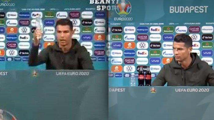 VIRAL Video Cristiano Ronaldo Geser Coca-Cola saat Konferensi Pers, Perusahaan Merugi Rp57,2 Triliun
