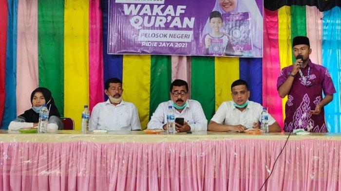 Target Lahirkan 8 Juta Penghafal Alquran, Gandeng Pemkab RQV Wakaf 1.000 Alquran di Pidie Jaya