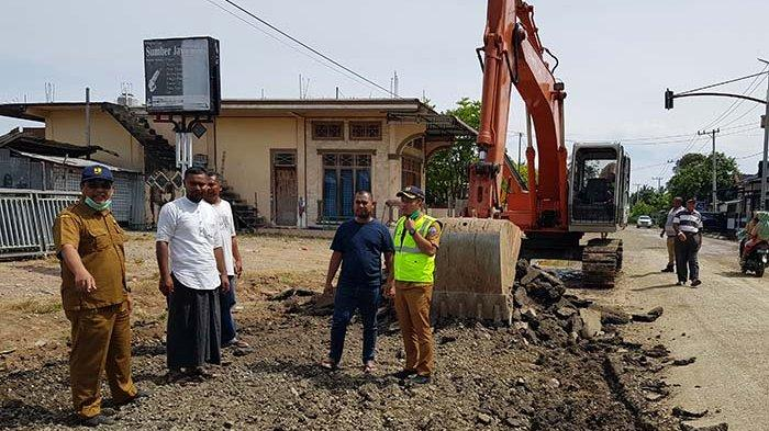 PU Pidie Jaya Targetkan 2 Bulan Tuntas Pembangunan Ruas Jalan Kota Meureudu
