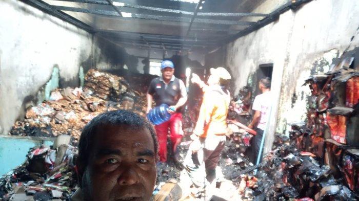 Tragedi di Hari Meugang, Dua Toko Terbakar di Kota Lhokseumawe, Ini Dugaan Penyebabnya