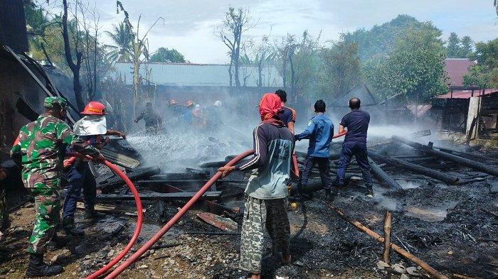 Aduh! Ternyata Percikan Api Petasan Penyebab Rumah Nek Ainsyah Terbakar, Emas dan Padi Ikut Hangus