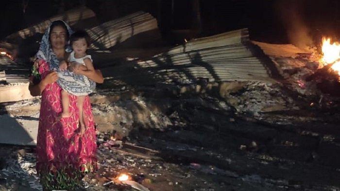 Rumah Janda Miskin di Lhokseumawe Terbakar, Hanya Tersisa Pakaian di Badan