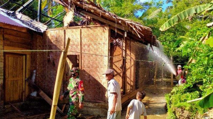 Rumah Janda Miskin di Padang Kawa Abdya Terbakar