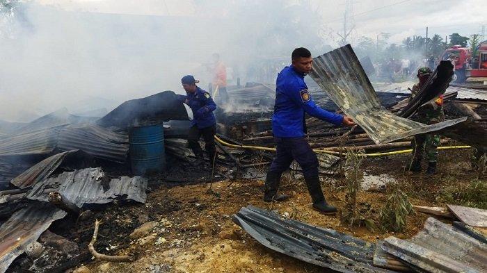 Penghuninya Mudik Lebaran, Rumah Kost di Lamtamot Musnah Terbakar