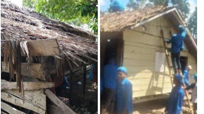 Mahasiswa KKM Unida Rehab Rumah Janda