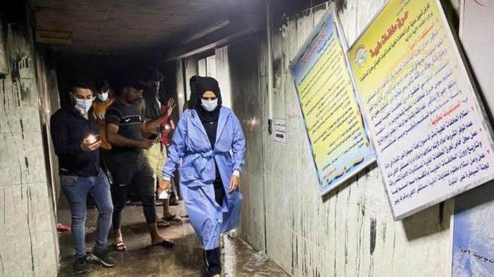 Rumah Sakit Pasien Covid-19 Dirawat Terbakar Usai Tabung Oksigen Meledak, Banyak Mayat Terbakar