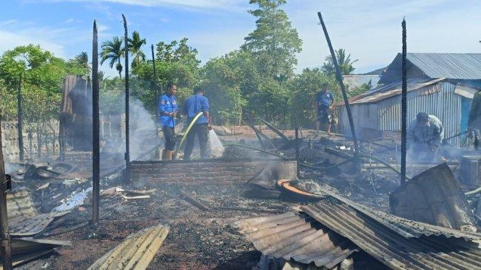Rumah warga Gampong Baro Peukan Bada Aceh Besar Terbakar, Sepmor dan Dua Unit Sepeda Ikut Hangus