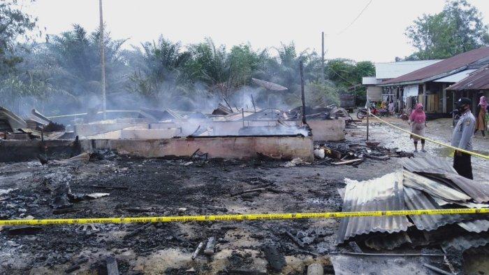 Dua Rumah Karyawan PT PPP di Aceh Timur Terbakar