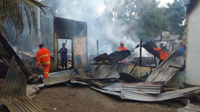 Satu Unit Rumah Milik Warga Rancong Kutablang Habis Terbakar, Begini Kejadiannya
