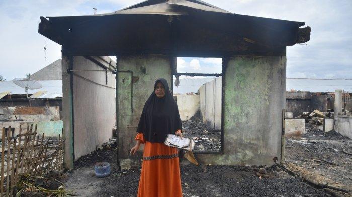 Teriakan Mariana Korban Kebakaran Rumah di Lhokseumawe : Hanya Pakaian yang Tersisa Melekat di Badan