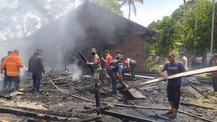 Empat Rumah Warga di Bener Meriah Terbakar, Dua Rata dengan Tanah, Damkar Padamkan dari Jarak Jauh