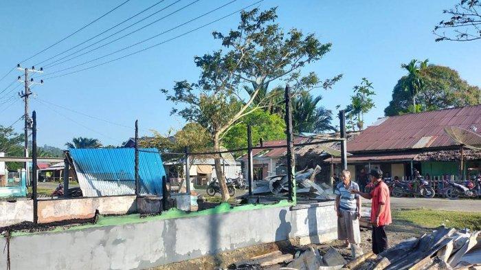 Rumah Janda Dua Anak di Simeulue Ludes Terbakar, tak Ada Korban Jiwa, Sumber Api Masih Diselidiki