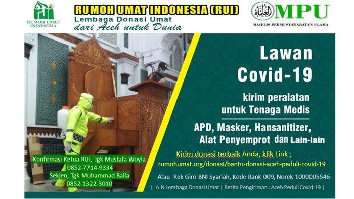 Perang Melawan COVID-19, Rumoh Umat dan MPU Aceh Galang Bantuan untuk Paramedis