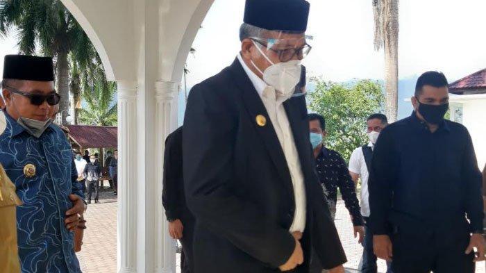 Pulih dari Corona, Gubernur Hadiri RUPS PT Bank Aceh Syariah, Berlangsung Tertutup di Jantho