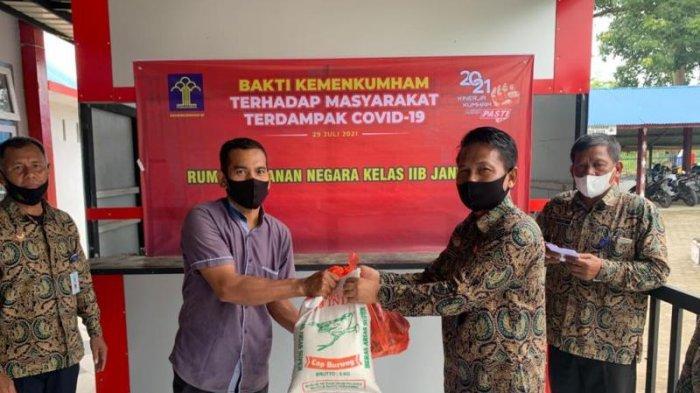 Rutan Jantho Bagikan 15 Paket Sembako