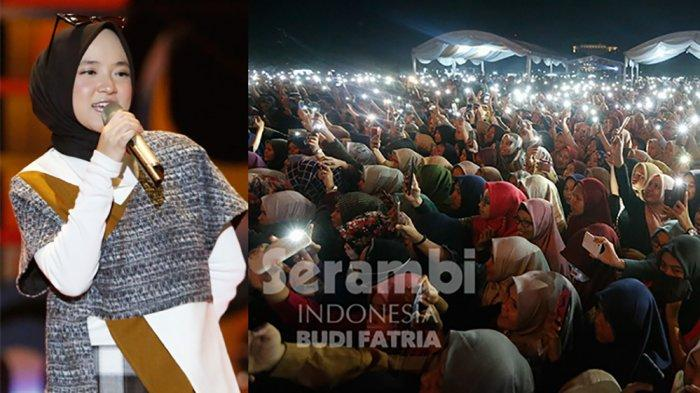FOTO-FOTO : Kelap-Kelip Flash HP Penonton, Meriahkan Penampilan Nissa Sabyan di Banda Aceh - sabiyan_1.jpg