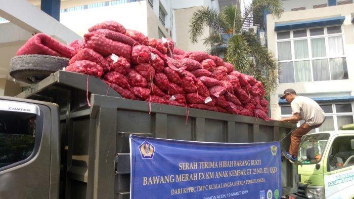 Bea Cukai Aceh Hibah 30 Ton Bawang Selundupan dari Thailand, Ini Daerah yang Menerima