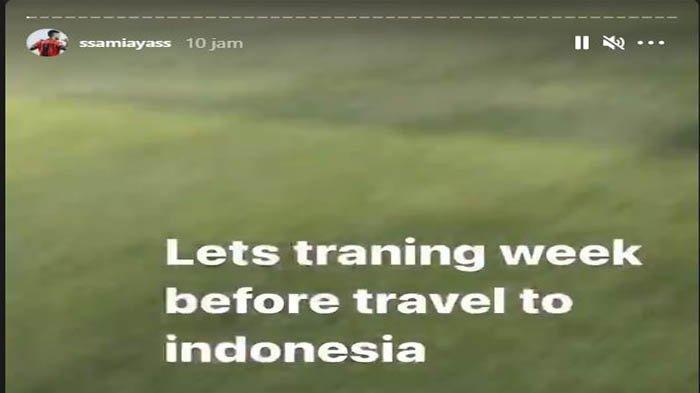 Samir Ayass lakukan latihan sebelum kembali ke Indonesia, hal tersebut terlihat dari instastory @ssamiayass, Senin (1/3/2021)