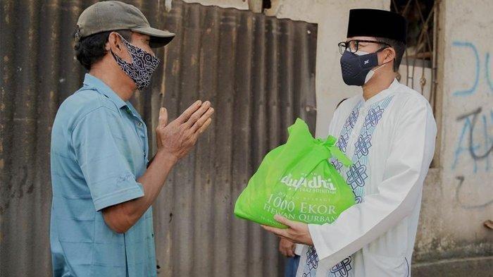 Sandiaga Uno Bersama Ormas Islam Salurkan 1.000 Hewan Kurban pada Hari Raya Idul Adha 1442 Hijriah