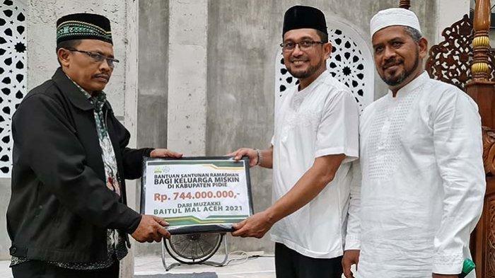 744 Keluarga Miskin di Pidie Dapat Dana Santunan Ramadhan dari Baitul Mal Aceh