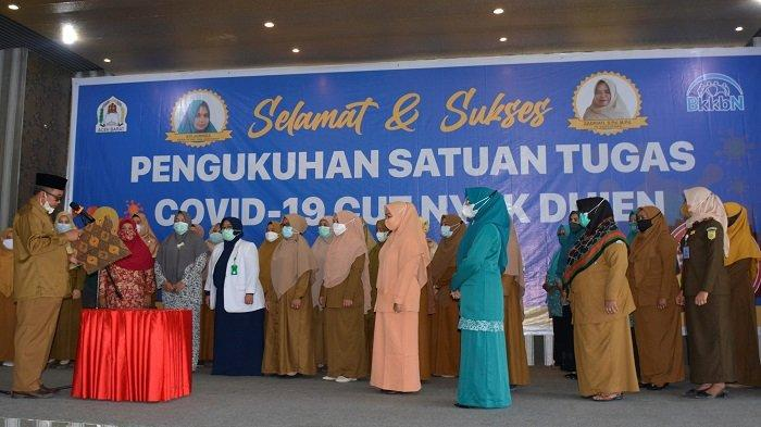 Bupati Kukuhkan Satgas Covid-19 Wanita di Aceh Barat