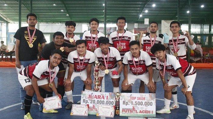Satoe Atjeh Juara Turnamen Futsal Aceh I