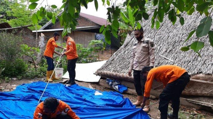 1 Rumah di Peusangan Rusak Parah Diterjang Angin, Begini Kejadian, Sekeluarga Kini Tinggal di Tenda