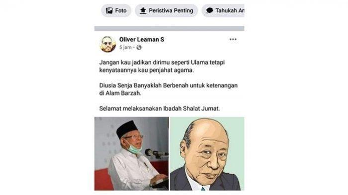 Pemilik Akun yang Hina Wapres Ma'ruf Amin Minta Maaf Usai Dilaporkan GP Ansor, Ini Kata Polisi