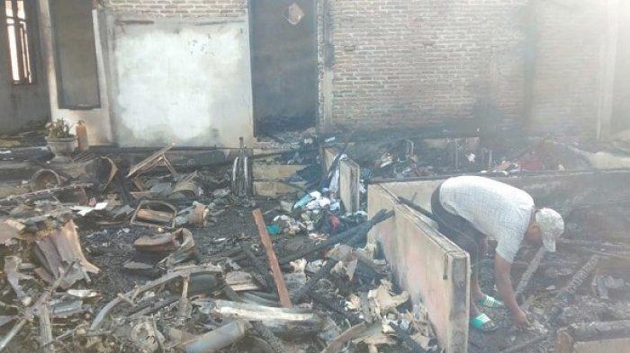 Rumah Terbakar di Lhokseumawe, Janda dan Dua Anaknya Mengungsi