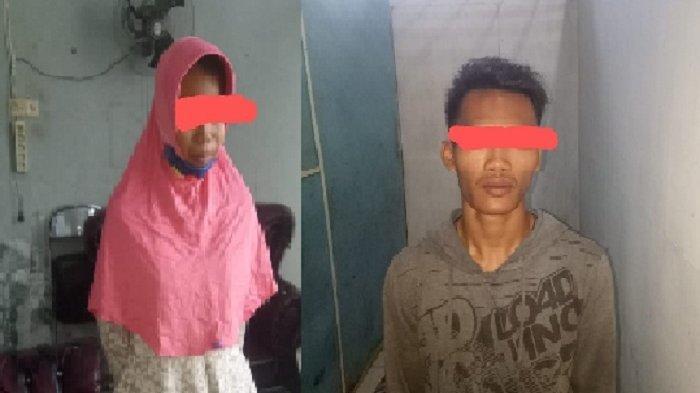 Sejoli MJT dan ND diamankan Satpol PP dan WH Aceh Tamiang setelah kepergok berduaan di toilet umum di tribun lapangan depan Kantor Bupati Aceh Tamiang, Selasa (15/12/2020) malam.