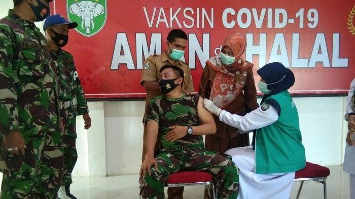 Seratusan Prajurit Kodim 0110/Abdya Disuntik Vaksin Covid-19