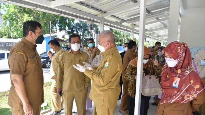 Sekda Kunjungi Rumah Sakit Lapangan Covid-19 di RSUZA, Pasien Positif 40 Orang, Ini Data Se-Aceh