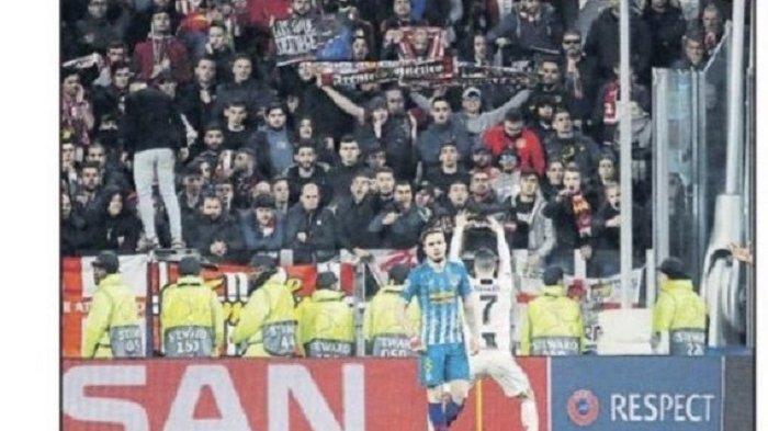 Terungkap Kata Kasar Ronaldo di Hadapan Fans Atletico Madrid