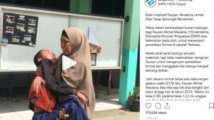 Perjuangan Winih yang Tak Kenal Lelah Gendong Putranya Bersekolah, Ceritanya Menuai Simpati