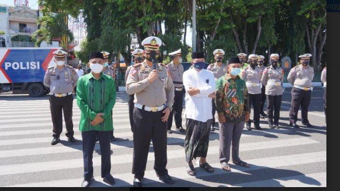 Ditlantas Polda Aceh dan NU Aceh Salurkan 250 Paket Sembako
