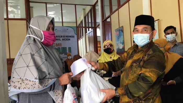 ICMI Orwil Aceh Kembali Salur Sembako untuk KK Kurang Mampu & Panti Asuhan, 60 Quran untuk Meunasah