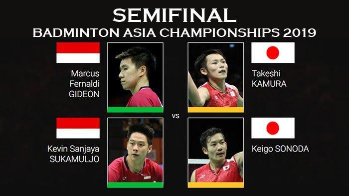 Link Live Streaming Semifinal Badminton Asia Championships 2019, Marcus/Kevin Vs Kamura/Sonoda Lagi