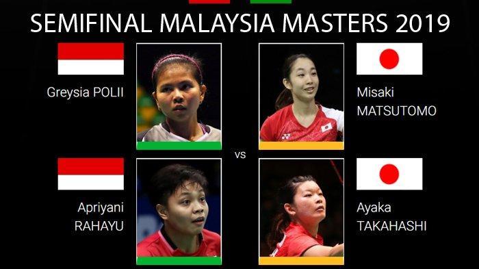 Greysia/Apriyani Ditantang Musuh Bebuyutan dari Jepang di Semifinal Malaysia Masters 2019