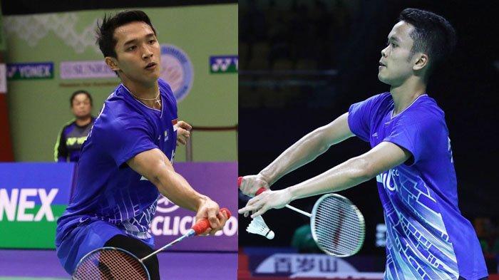 Live Streaming TVRI Babak Perempat Final Thailand Open 2021: Ginting dan Jojo Lawan Andalan Denmark