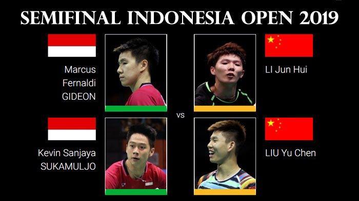 Jadwal Semifinal Indonesia Open 2019 - Harapan Tersisa pada Marcus/Kevin dan Ahsan/Hendra